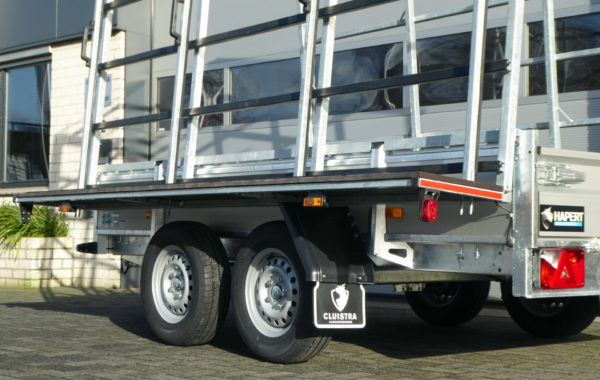 Glaswagen met spatbord Cluistra L-2 2000kg 300x150 aluminium + glasbok